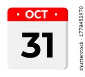 october 31 calendear icon with...   Shutterstock .eps vector #1778452970