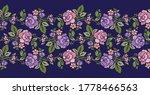 seamless vector rose flower...   Shutterstock .eps vector #1778466563