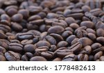 Macro Shot Of Coffee Beans....