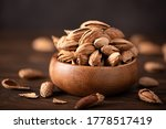 Fresh Inshell Almonds In A...