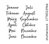 Hand Lettered Months Of The...
