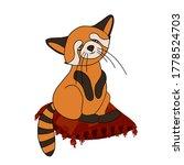 Red Panda  Cat Bear. Character...