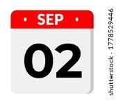 september 02   calendar icon   Shutterstock .eps vector #1778529446