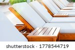 Blank White Wooden Loungers In...