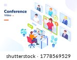 video conference internet... | Shutterstock . vector #1778569529