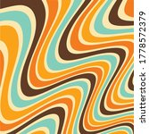 retro 70s wavy orange blue... | Shutterstock .eps vector #1778572379