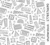 hand drawn kid toys for... | Shutterstock .eps vector #1778576690