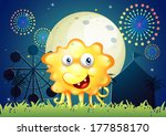 illustration of a carnival with ... | Shutterstock . vector #177858170
