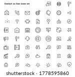 contact us line icons set... | Shutterstock .eps vector #1778595860
