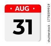 august 31   calendar icon   Shutterstock .eps vector #1778599919