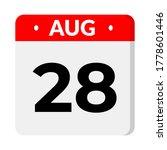 august 28   calendar icon   Shutterstock .eps vector #1778601446