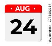 august 24 flat calendar icon   Shutterstock .eps vector #1778603159