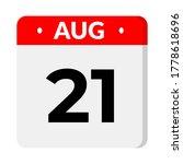 august 21 calendar flat icon   Shutterstock .eps vector #1778618696