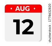 august 12 calendar icon with...   Shutterstock .eps vector #1778632820