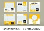 set of editable minimal square... | Shutterstock .eps vector #1778690009