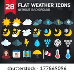 flat weather icons set for web... | Shutterstock .eps vector #177869096