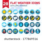flat weather icons set for web... | Shutterstock .eps vector #177869516
