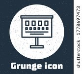 Grunge Line Eye Test Chart Icon ...
