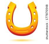 golden horseshoe vector. | Shutterstock .eps vector #177870548