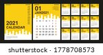 calendar 2021  set desk... | Shutterstock .eps vector #1778708573