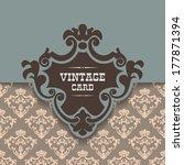 vector vintage border frame | Shutterstock .eps vector #177871394