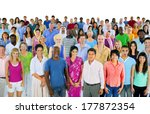 large multi ethnic group of... | Shutterstock . vector #177872354