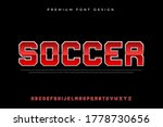 sporty bold alphabet font with...   Shutterstock .eps vector #1778730656