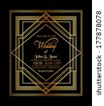 wedding invitation card   art... | Shutterstock .eps vector #177878078