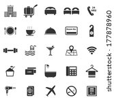 hotel icons on white background ... | Shutterstock .eps vector #177878960