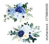 classic navy blue rose  white... | Shutterstock .eps vector #1778804030