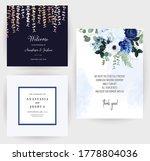 classic blue rose  white... | Shutterstock .eps vector #1778804036