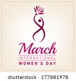 happy women's day greeting card.... | Shutterstock .eps vector #177881978