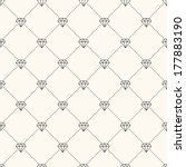 vector seamless retro pattern ... | Shutterstock .eps vector #177883190