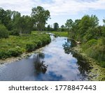 A Small  Narrow River With The...