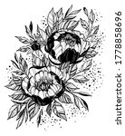 tattoo branch of flowers.... | Shutterstock . vector #1778858696
