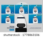 arab online class. stay at home ... | Shutterstock .eps vector #1778863106
