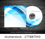 cd cover design with space for... | Shutterstock .eps vector #177887543