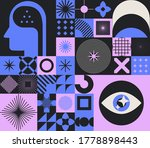 abstract minimal composition of ... | Shutterstock .eps vector #1778898443