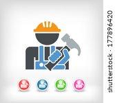 worker icon | Shutterstock .eps vector #177896420