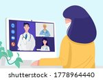 video conferencing at home ...   Shutterstock .eps vector #1778964440