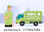 illustration of green electric... | Shutterstock .eps vector #1778967086