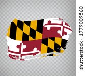 flag of  maryland from brush...