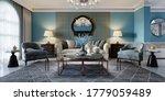 Living Room Interior In Classic ...