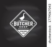 butcher meat shop with goose...   Shutterstock .eps vector #1779067043