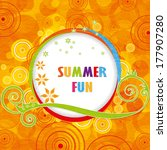 abstract colorful summer fun... | Shutterstock .eps vector #177907280