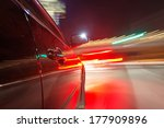 car on the road with motion... | Shutterstock . vector #177909896