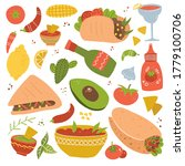set of mexican food traditional ... | Shutterstock .eps vector #1779100706