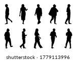 people silhouette vector  man... | Shutterstock .eps vector #1779113996