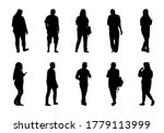 people silhouette vector  man... | Shutterstock .eps vector #1779113999