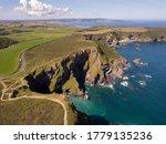 Cornwall  England Uk  Aerial...